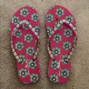 8.5 Vera Bradley flip flops!